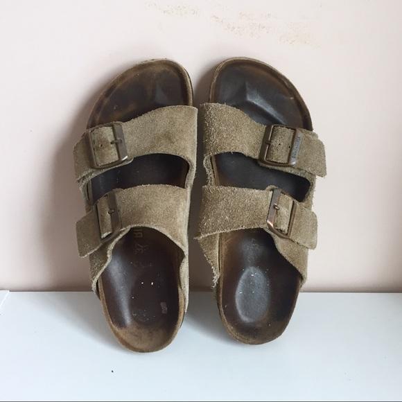 Birkenstock Shoes | Olive Suede